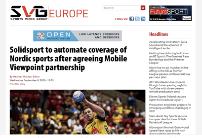 Solidsport select Mobile Viewpoints IQ Video Solutions